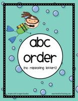 Ocean Alphabetical Order Activity – Easy: Organize the 3 different sets of words into ABC order. Then, write the answers on the worksheet included. Ocean ABC Order Activity – Easy – Click Here Information: ABC Order, Alphabetical Order, Ocean Theme