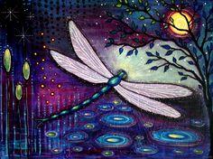 """""""Dragonfly Moon"""" by Shanti I.Kassebom"""