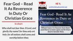 Illustration-Title-Fear God – Read It As Reverence In Duty Or Christian Grace-logo-text What Is Meant, Meant To Be, And There Were None, Revelation 14, Knowing God, For Everyone, Gods Love, Blogging, Lord