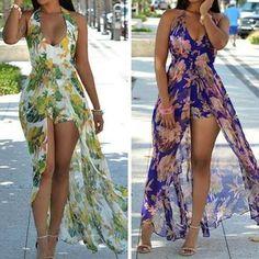Halter Dress Summer, Summer Dresses, Dress Beach, Summer Outfits, Sexy Dresses, Short Dresses, Maxi Romper, Bodycon Dress, Fashion Seasons