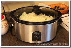 Creamy & Cheesy Crockpot Chicken and Rice - Life by Ashley Pichea