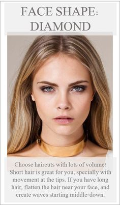 diamond face shape contour - Google Search