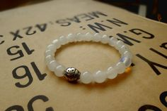 Gemstones bracelet/ White jade gemstone bracelet / by RetroBicycle, €12.00