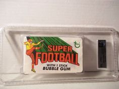 1970 Topps Super Football Wax Pack GAI Gem Mint 10 NFL Cards Rare #NFLCollectible