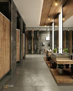 Design & Visualization: Ezdan Mall Qatar Toilets on Behance Bathroom design Design & Visualization: Ezdan Mall Qatar Toilets Restaurant Bad, Restaurant Bathroom, Restaurant Design, Toilet Restaurant, Commercial Toilet, Commercial Design, Commercial Interiors, Commercial Bathroom Ideas, Washroom Design