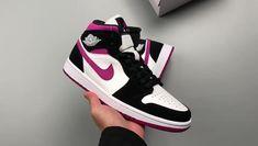 "Nike Air Jordan 1 Mid ""Magenta"" White/Black-Magenta Basketball Shoes BQ6472 005 Jordan Sneakers Cheap Jordan Shoes, Cheap Jordans, Air Jordan Sneakers, Sneakers For Sale, Jordans Sneakers, Air Jordans, Shoes Sneakers, Men's Shoes, Nike Shoes"