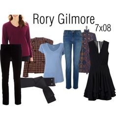 """""""Rory Gilmore 7x08"""" by inpurifyingflame on Polyvore"""