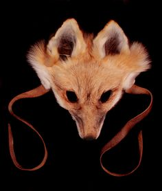Red Fox Mask and Tail  via Etsy. I want one like this, to just wear on occasions, not even just Halloween ;) But I would prefer it be faux...