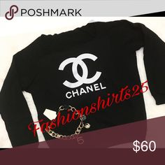 •FASHION SWEATER• Chanel Fashion sweater! Inspired by Chanel. Can be worn off the shoulder, or as a crew neck. Firm on price. looks very fashion and sexy. Sizes S-L available CHANEL Sweaters