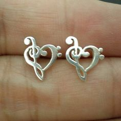 Musical Note Ear Stud Earring  Musical Note Jewelry  by yhtanaff, $49.00 Purchase at: http://www.etsy.com/listing/160372558/musical-note-ear-stud-earring-musical?utm_source=Pinterest&utm_medium=PageTools&utm_campaign=Share