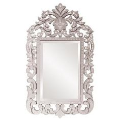 Howard Elliott Regina Mirror - x in. - About the Howard Elliott Collection. The Howard Elliott Collection is one of the premiere manufacturers of decorative mirrors and accessories in the. Etched Mirror, Ornate Mirror, Venetian Mirrors, Mirror Mirror, Decorative Mirrors, Vanity Mirrors, Mirror Glass, Bathroom Mirrors, Wall Mirrors