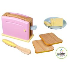 Amazon.com: Kitchen Pastel Wooden Play Food Set: Toys & Games