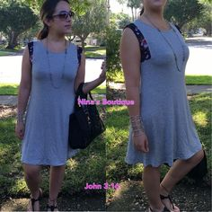 Casual dresses Throw it on and go - floral print paneled sleeveless A-line dresses. Price is firm! 95% rayon 5% spandex - S(2/4) M(6/8) L(10/12) Boutique Dresses