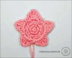 Patrón Gratis: Estrella a Crochet #1   PATRONES VALHALLA // Patrones gratis de ganchillo