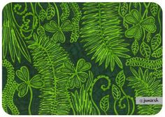 Rainforest of Malaysia. Scratch art with green