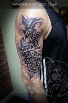 biomechanical biomech tattoo
