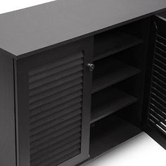 Baxton Studio Warren Shoe Storage Cabinet in Dark Brown