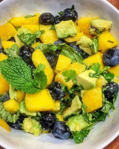 Mango Avocado Blueberry Salad - the fellow foodie