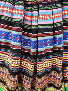 Bright Patchwork Seminole Indian Skirt