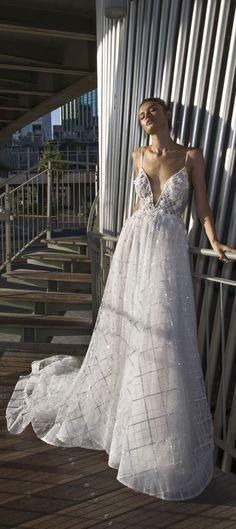 Spaghetti straps a line wedding dress : Dimitrius DaliaWedding Dress - Diamond Bridal Collection #weddingideas #weddinginspiration #weddingdress #weddinggown #weddingdress #bridedress