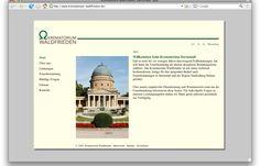 Ein neuer Briefkopf, eine eigene E-Mail-Adresse, ein anderer Name: Vieles hat sich zum 1. Januar 2008 für das Krematorium am Darmstädter Waldfriedhof verändert. Das Krematorium Waldfrieden hat schon vieles bewegt und noch manches vor …  http://www.juergenwolf.com/krematorium-waldfrieden-darmstadt/