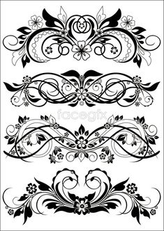Knot lace vector | Pattern border