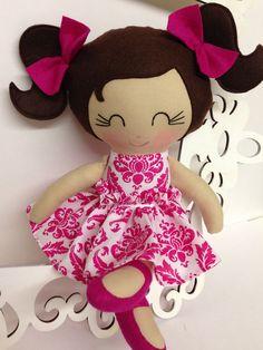 Handmade Dolls Fabric Dolls Soft Dolll Cloth by SewManyPretties