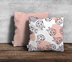 Modern cow design cushion cover FREE by PeachyArtandTreasure