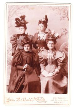 Cabinet-Card-Photo-of-4-Women-in-Utica-NY