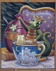 Dragon and Afternoon tea by Randal Spangler