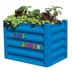 Amazing My First Garden 55 X 35 X 41cm Bright Blue Raised Garden Bed