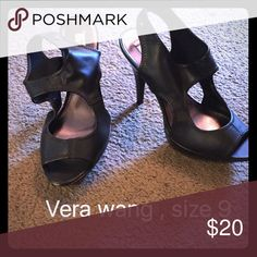 Vera wang peep toe heels Has some wear but still in good condition. Vera Wang Shoes Heels