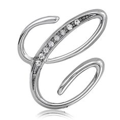 $12.99 This lovely initial letter 'C' brooch pin is made of silver toned metal and set with sparkling rhinestones. Brooch measures 1.2 inch L X 1.2 inch W. Fastens with standard pin catch. Style number #br082-c.