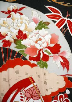Japanese Embroidery Kimono Embroidery Thread Needle Polo Embroidery Near Me Paper Embroidery, Learn Embroidery, Japanese Embroidery, Embroidery Patterns, Japanese Art Prints, Japanese Textiles, Japanese Patterns, Chinese Fabric, Asian Fabric