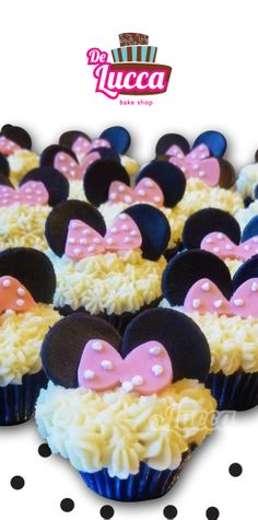 Los clásicos nunca pasan de moda #Cupcakes #MinnieMouse