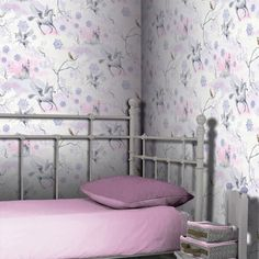 Fairytale Unicorn Wallpaper - Lilac - Arthouse 667801  This enchanting fairytale themed wallpaper features unicorns and fairy castles on a pretty pink and lilac background patterned with leaves and snowflakes. For added magic, the design has been infused with glitter to give that extra sparkle to your room. This wallpaper would look great as a feature wall when teamed with a coordinating wallpaper, or equally good when used to decorate a whole room. A magical unicorn themed wallpaper…