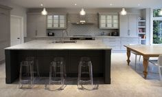 Grey transitional kitchen