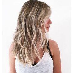 Dark Sandalwood-Blonde Hair with Pale-Blonde Balayage