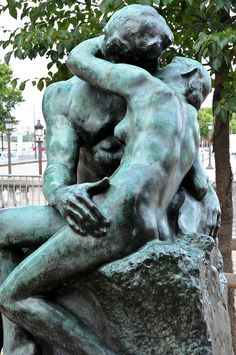 Auguste Rodin - The Kiss (Le Baiser). at the Rodin Museum.Paris