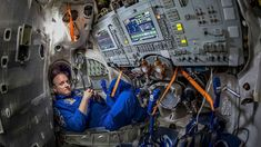 NASA astronaut Scott Kelly is seen inside a Soyuz simulator at the Gagarin Cosmonaut Training Center (GCTC), Wednesday, March 2015 in Star City, Russia. Scott Kelly, Mark Kelly, Space Junk, Take Shelter, Nasa Astronauts, International Space Station, Space And Astronomy, Nasa Space, Meteorology