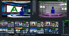 virtual set volume 4 compatible with vMix live video streaming software. Virtual Studio, Software, Action, Tv, Design, Group Action, Television Set