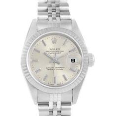 16562 Rolex Datejust 26mm Steel White Gold Ladies Watch 69174 Box Papers SwissWatchExpo