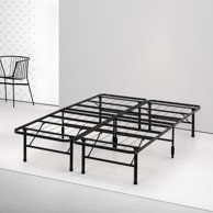 Novogratz Francis Farmhouse Metal Bed King Bed Frame Black