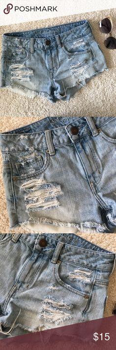 American Eagle Denim Shorts American Eagle Denim Shorts Size 2 American Eagle Outfitters Shorts Jean Shorts