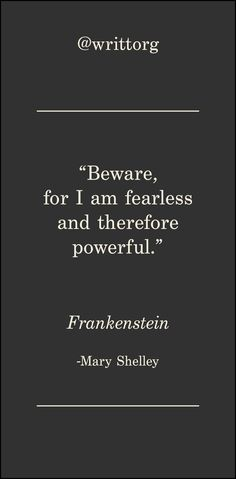 Frankenstein Quote by Mary Shelley Classic literature quotes posted each and ev. Frankenstein Quote by Mary Shelley Classic literature quotes posted each and every day on Instagra Tatoo Books, Book Quotes Tattoo, Quote Tattoos, Small Quotes, Great Quotes, Love Quotes, Inspirational Quotes, Mary Shelley Quotes, Frankenstein Quotes