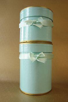 Blue hatboxes