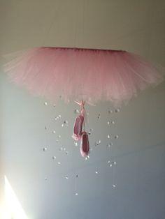 Crystal ballerina baby mobiletutu baby by JennabooBoutique on Etsy