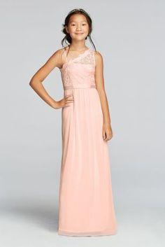 Long Neutral Bridesmaids Dresses Shades of Blush Pink and Gray ...