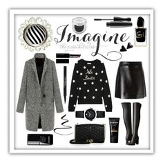 """""""Imagine The Possibilities #wintersweater"""" by shaheenk ❤ liked on Polyvore featuring David Trubridge, Rebecca Minkoff, MAC Cosmetics, MICHAEL Michael Kors, Witchery, Chinti and Parker, Urban Decay, Giorgio Armani, Chanel and Movado"""