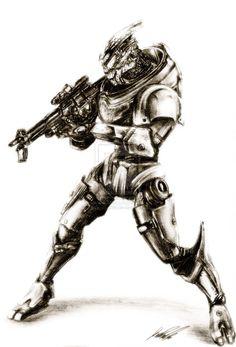Garrus-Mass Effect by Art / Traditional Art Mass Effect Garrus, Mass Effect Art, Video Game Art, Video Games, Mordin Solus, Mass Effect Characters, Archangel, Dragon Age, Traditional Art